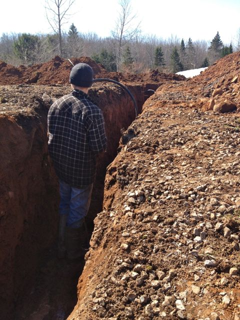 Bruce is in one of the ditches we put in to lay water lines for late fall and early spring water.