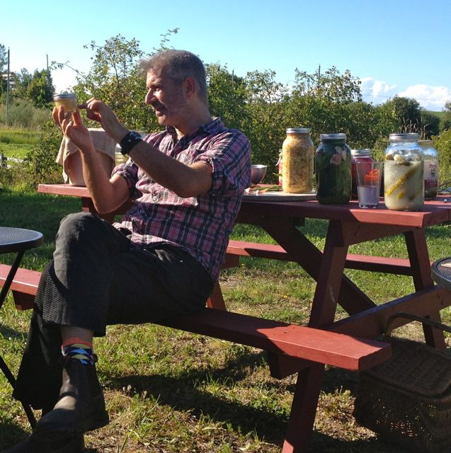 Sandor Katz with ginger 'bug'