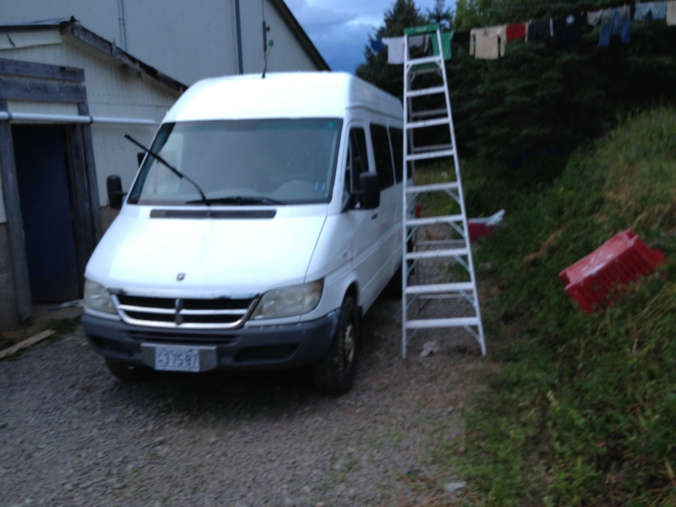 Sprinter after white paint