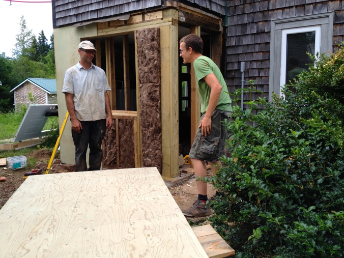 Kevin planned to replace a few things on the porch of the intern house, and in the end, had to rebuild most of the porch!