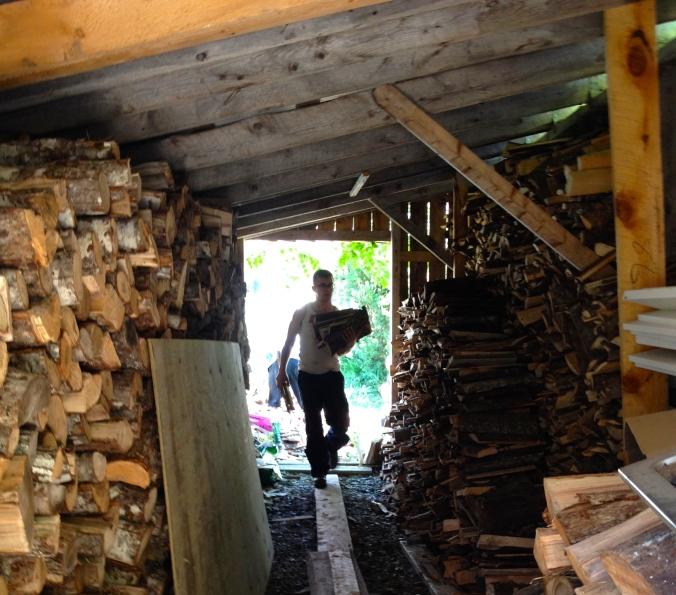 Stacking wood