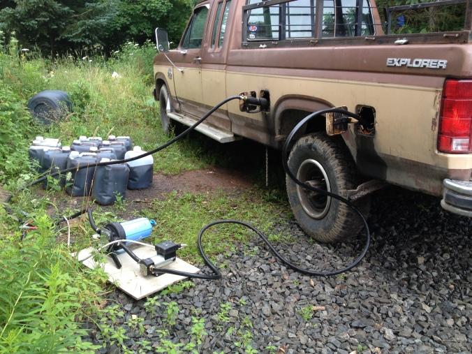 Veggie oil truck.